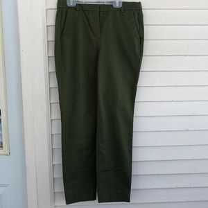 J. By J. Crew olive green flat front pants size 4